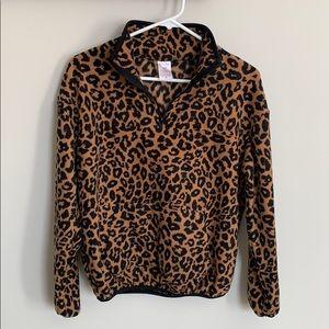 New never worn cheetah print fleece top